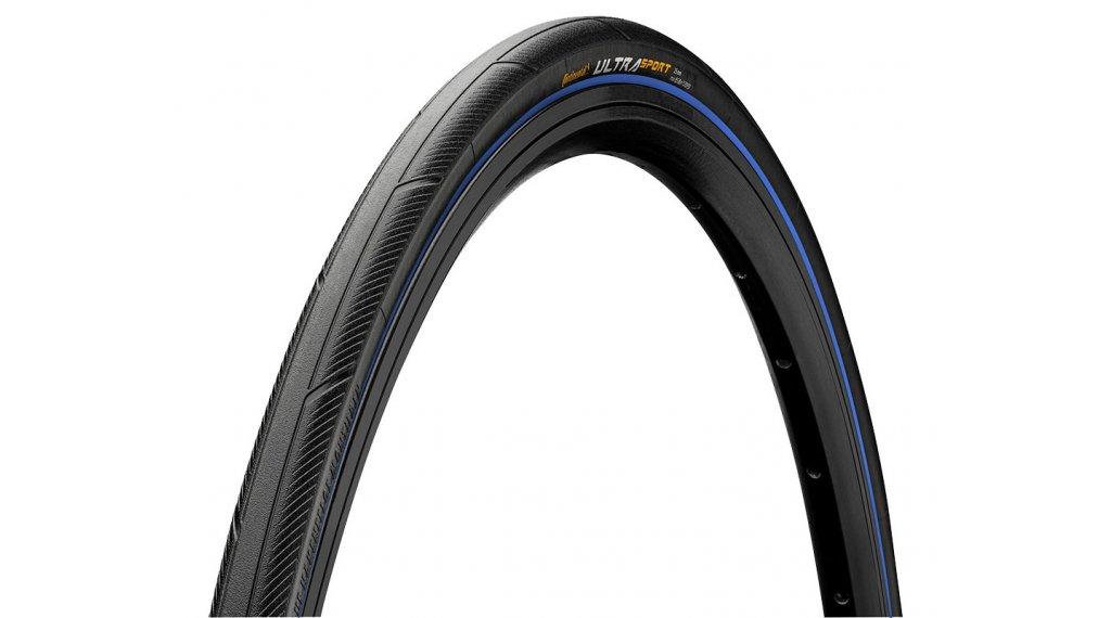 "Continental Ultra Sport III 28"" Performance Rennrad-Faltreifen 23-622 (700x23C) black/blue Skin"