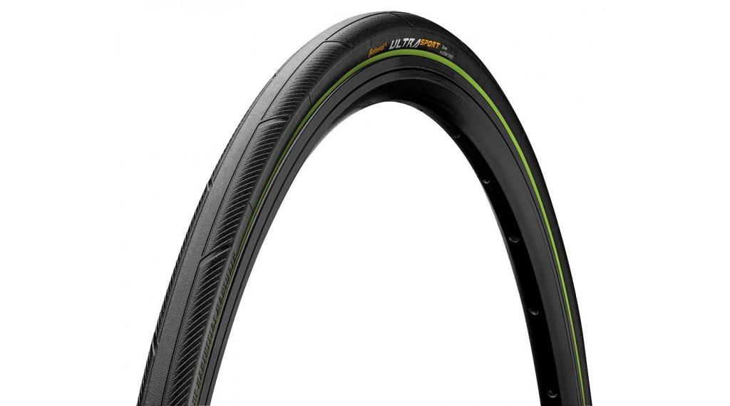 "Continental Ultra Sport III 28"" Performance Rennrad-Faltreifen 23-622 (700x23C) black/green Skin"