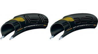 Continental Grand Prix Attack/Force II VectranBreaker Faltreifen Set 22/24-622 (700x22/24C) schwarz BlackChili-Compound