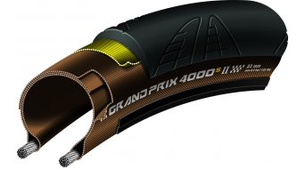 "Continental Grand Prix 4000 S II 28"" VectranBreaker Rennrad-Faltreifen 23-622 (700 x 23C) schwarz/transparent Skin 3/330tpi BlackChili Compound"