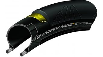 "Continental Grand Prix 4000 S II 28"" VectranBreaker 公路赛车-折叠轮胎 25-622 (700 x 25C) 黑色/黑色 Skin Reflex 3/330tpi BlackChili Compound"