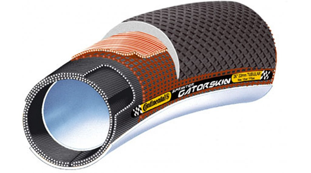 "Continental Sprinter Gatorskin 28"" SafetySystemBreaker 管胎 (28""x22 mm) 黑色/黑色 Skin 3/180tpi"