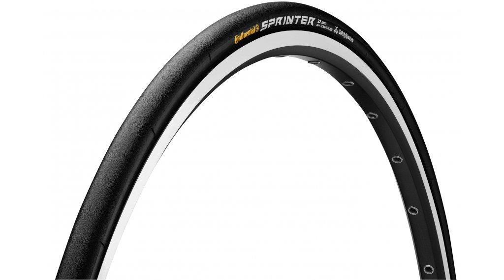 "Continental Sprinter 28"" SafetySystemBreaker 管胎 (28""x22 mm) 黑色/黑色 Skin 3/180tpi BlackChili Compound"