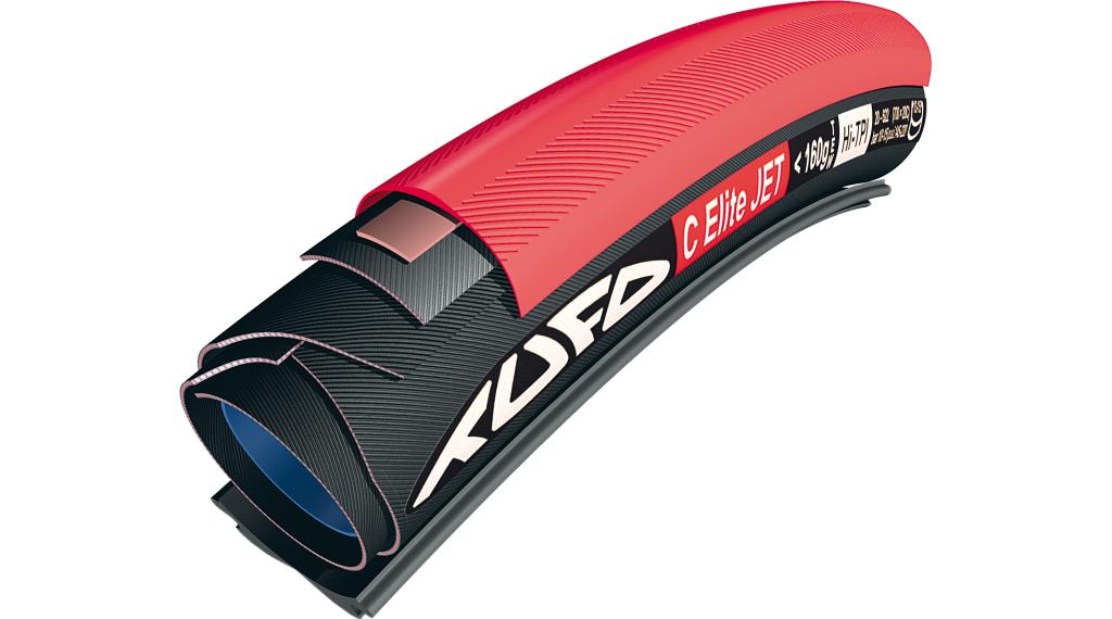 Tufo C S22 Special Road Schlauchreifen 28x21mm für Drahtfelgen 120tpi 335g rot/schwarz