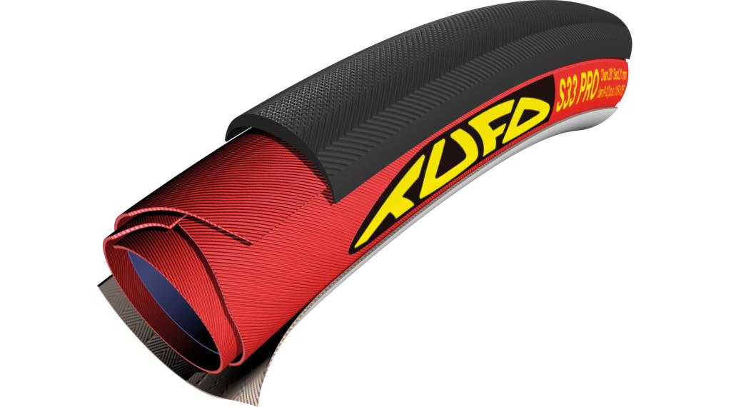 Tufo S33 Pro Road Schlauchreifen 28x21mm 60tpi schwarz/rot