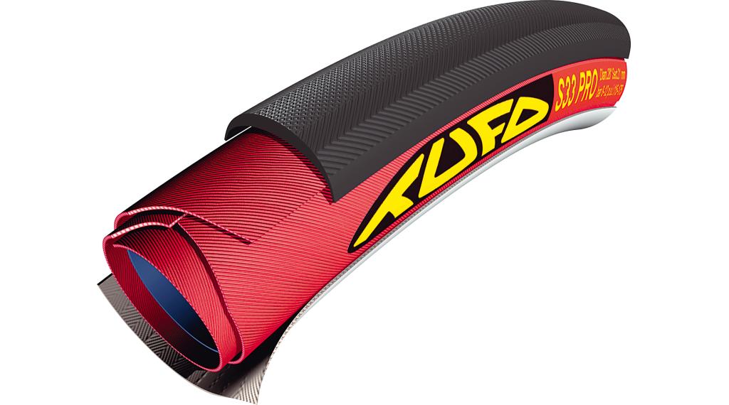 Tufo S33 Pro 24 Road Schlauchreifen 28x24mm 60tpi schwarz/rot