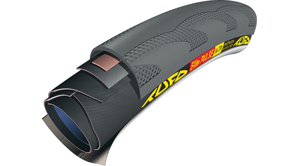 Tufo Elite Pulse Triathlon Schlauchreifen 28x22mm 210tpi schwarz