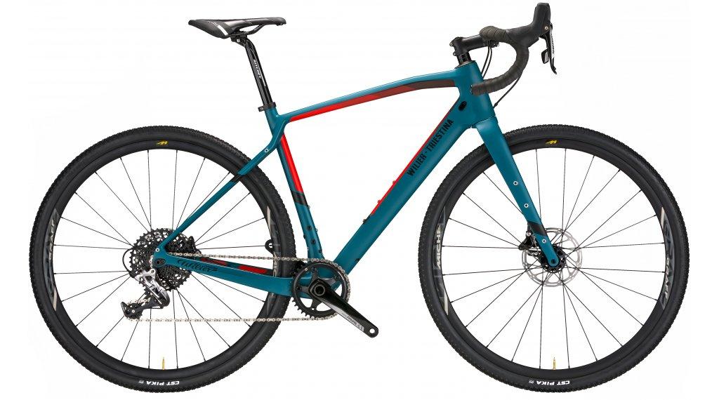 "Wilier Jena 28"" Gravelbike úplnýrad SRAM Rival/Miche Graff Alu velikost XS blue/red matt model 2020"