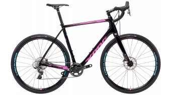 "KONA Super Jake 28"" bike gloss black/magenta & cyan decals 2018"
