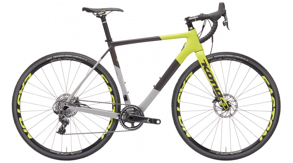Kona Super Jake Cyclocross bici completa tamaño 48 grey charcoal and amarillo Mod. 2019