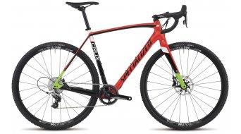 Specialized Crux Elite X1 28 Cyclocrosser bike size 58cm rocket red/tarmac black/monster green 2017