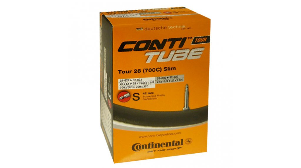 Continental Tour 28 slim 公路车内胎 28-609 -> 37-642 法式气嘴 (Sclaverand) 42mm