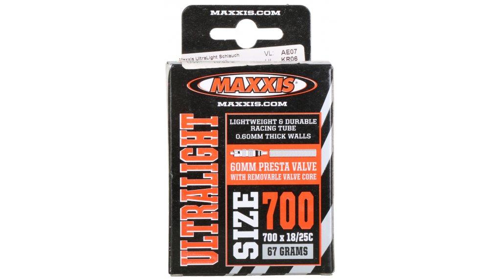 "Maxxis UltraLight 28"" Schlauch 700x18/25C frz. Ventil schwarz"