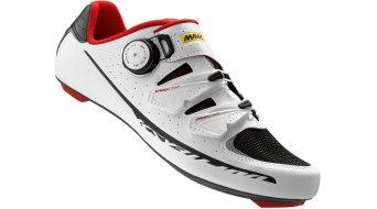 Mavic Ksyrium Pro bici carretera-zapatillas tamaño 38 2/3 (5.5) blanco/negro/racing rojo