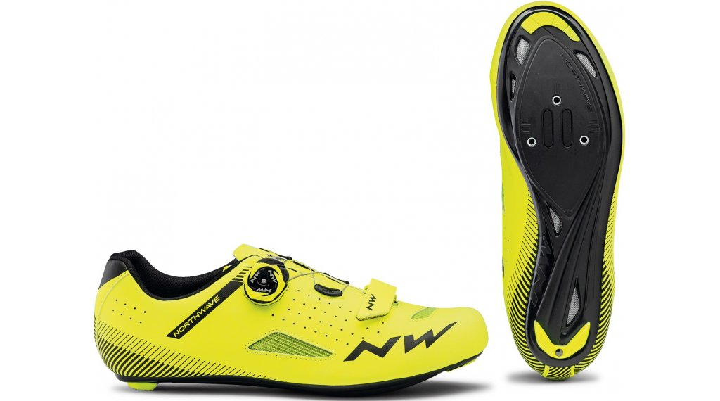 Northwave Core Plus Rennrad-Schuhe Gr. 36.0 yellow fluo