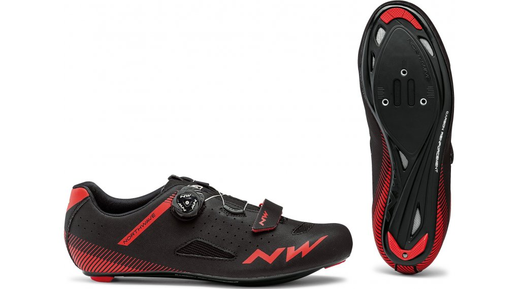 Northwave Core Plus Rennrad-Schuhe Gr. 36.0 black/red