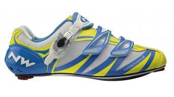 Northwave Evolution SBS Rennrad Schuhe Gr. 43,5 lime/blue - VORFÜHRTEIL Ungleiches Paar  re. 42 li. 43,5
