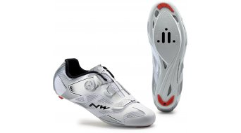 Northwave Sonic 2 Plus bici carretera zapatillas tamaño 42 blanco/gris