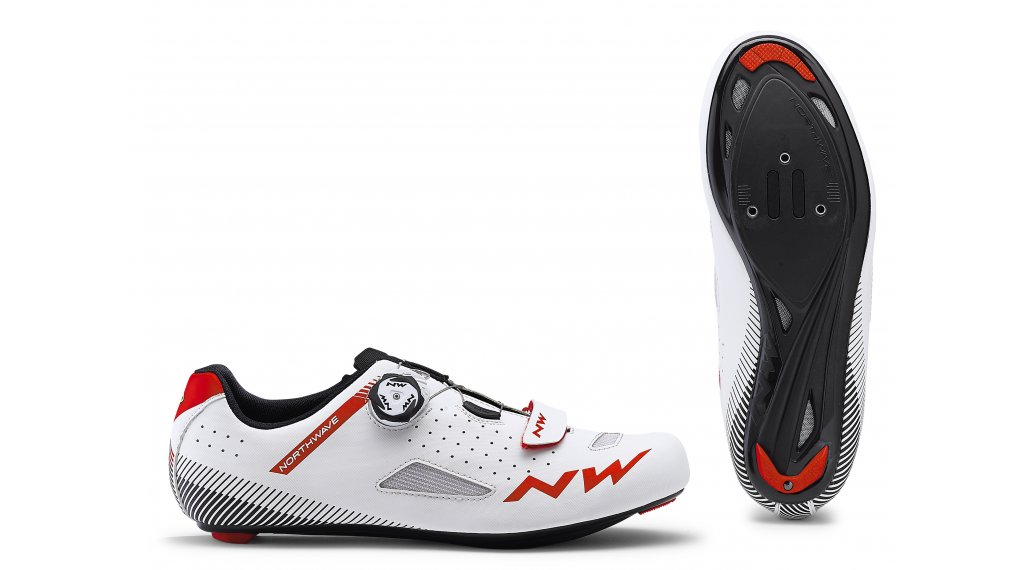 Northwave Core Plus Rennrad-Schuhe Gr. 36.0 white/red