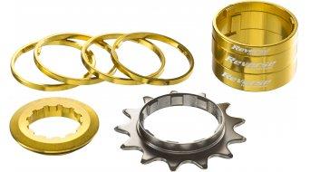 Reverse Single-Speed-改装组件 改装组件 来自 有颜色的 Alu-Spacern + 飞轮 13齿 金色