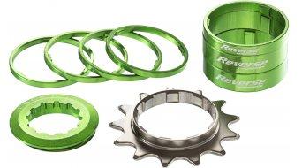 Reverse Single-Speed-改装组件 改装组件 来自 有颜色的 Alu-Spacern + 飞轮 13齿 green