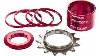 Reverse Single-Speed-Umrüstkit Umbau-Kit aus farbigen Alu-Spacern + Ritzel 13 Zähne