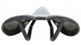 AX Lightness Endurance Plus 3K Carbon MTB/Road Sattel 3K-carbon / Leder schwarz (bis-100kg-Fahrergewicht)