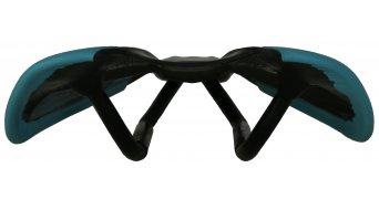 AX Lightness Leaf Plus 3K carbono sillín 3K-carbono/de cuero cyan (hasta-100kg-Fahrergewicht)