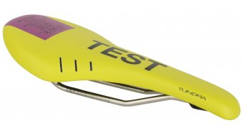 Fizik Tundra M3 MTB saddle k:ium- frame 125x290mm yellow/purple- TEST saddle