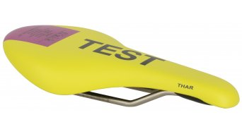 Fizik Thar 29 MTB saddle k:ium- frame 125x268mm yellow/purple- TEST saddle