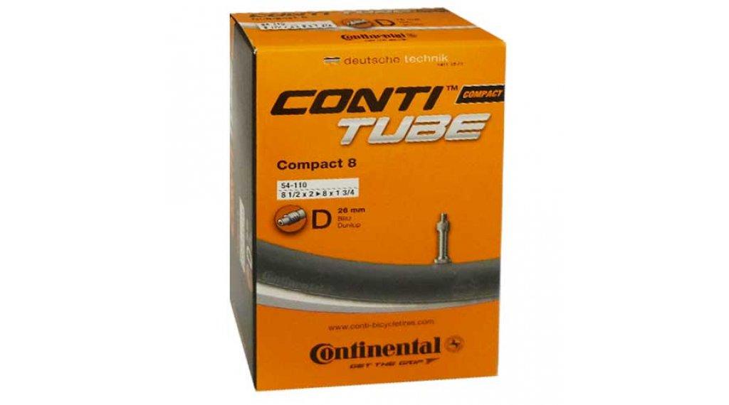 Continental Compact 8 自行车内胎 54-110 (8 1/2x2-8 x1 3/4) Dunlop气门芯(德嘴) 26mm