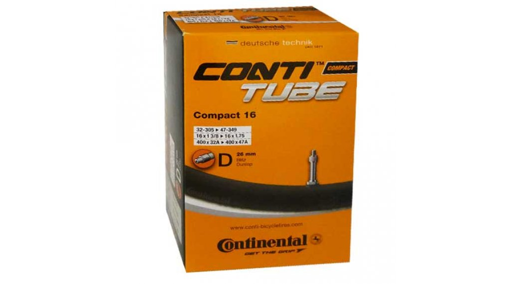 Continental Compact 16 自行车内胎 32-305 -> 47-349 (16x1 3/8-1.75) Dunlop气门芯(德嘴) 26mm