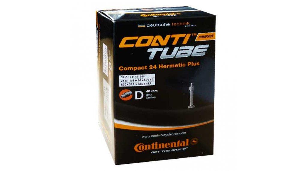 Continental Compact 24 Hermetic Plus 自行车内胎 32-507 -> 47-544 Dunlop气门芯(德嘴) 40mm