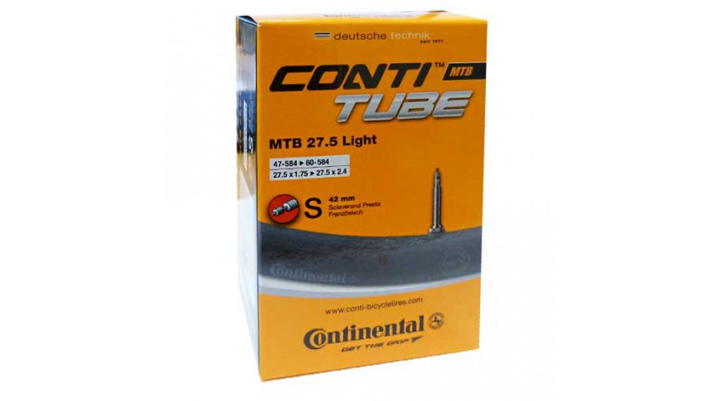 Continental MTB(山地) 27.5 Light 自行车内胎 47-584 -> 62-584 法式气嘴 (Sclaverand) 42mm