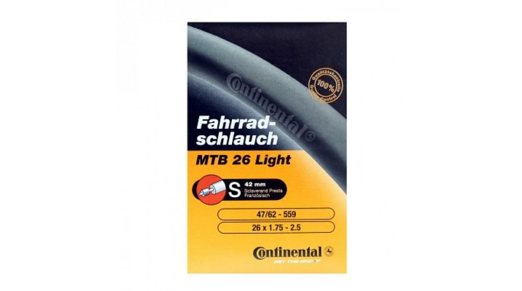 Continental MTB(山地) 26 Light 自行车内胎 47-559 -> 62-559 (26x1.75-2.4) 法式气嘴 (Sclaverand) 42mm
