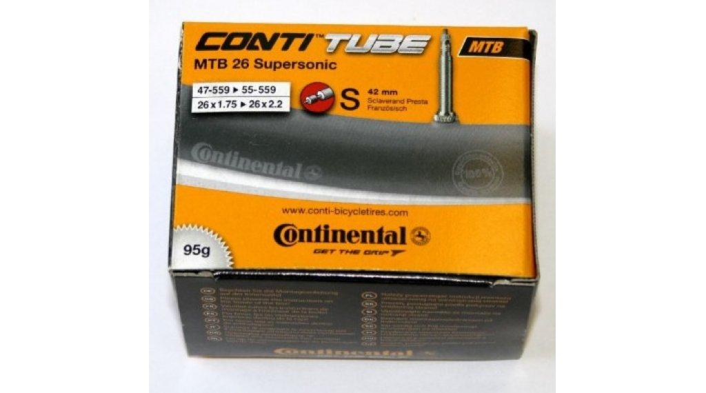 Continental MTB(山地) 26 Supersonic 自行车内胎 47-559 -> 55-559 (26x1.75-2.2) 法式气嘴 (Sclaverand) 42mm