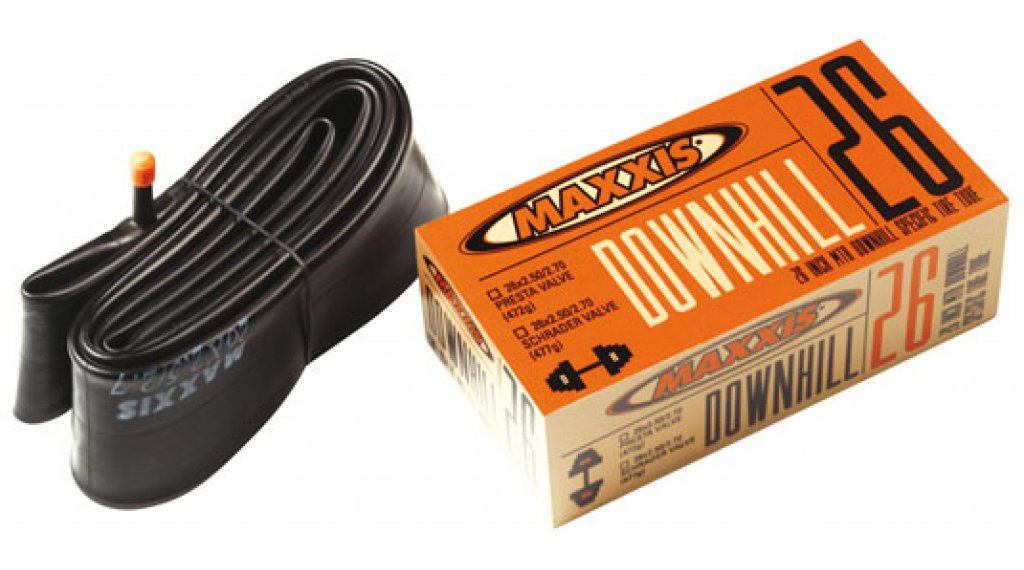 "Maxxis Downhill(速降) 26"" 内胎 26x2.40/2.70 汽车气门芯(美嘴) 黑色"