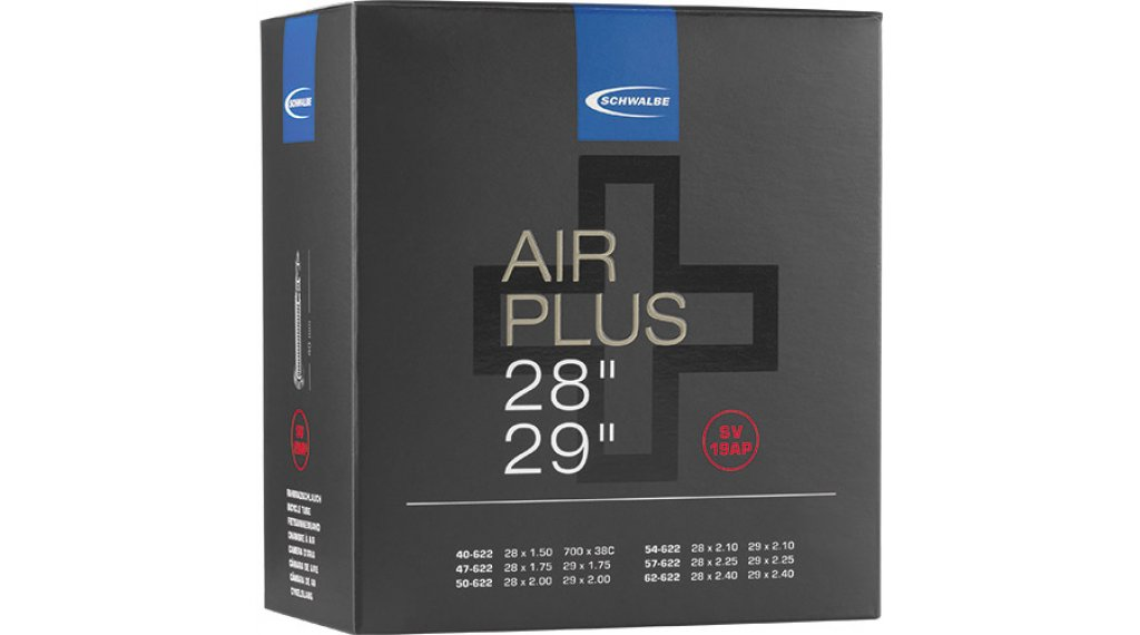 Schwalbe Air Plus Schlauch Nr. 19 für 28/29 SV19AP (28x1.40-29x2.40) frz.-Ventil 40mm