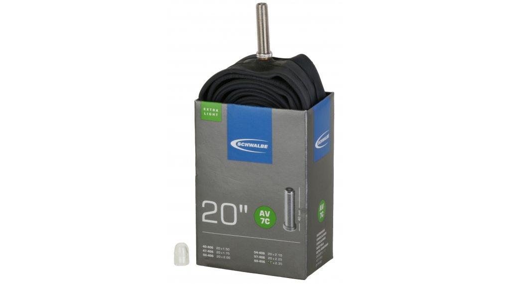"""Schwalbe Schlauch Nr. 7 für 20 AV7C ExtraLight (20x1.50-2.35"""") Autoventil 40mm, 95g"""