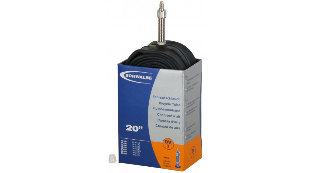 "Schwalbe tube Nr. 7 for 20 DV7 standard (20x1.50-2.35"") Dunlop valve 32mm, 145g"