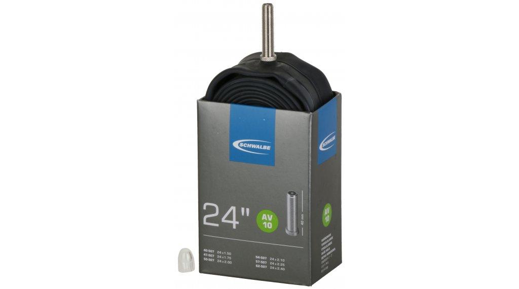 """Schwalbe Schlauch Nr. 10 für 24 AV10 Standard (24x1.50-2.50"""") Autoventil 40mm, 165g"""
