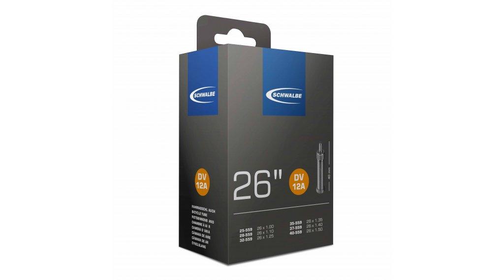"""Schwalbe Schlauch Nr. 12 für 26 DV12A Standard (26x1.00-1.50"""") Dunlopventil 40mm, 120g"""