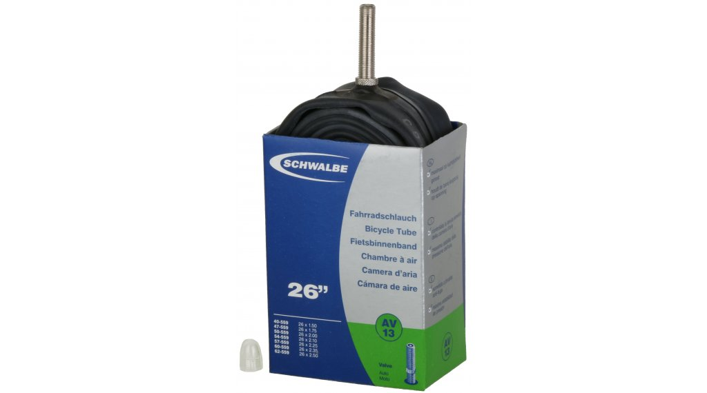 """Schwalbe Schlauch Nr. 13 für 26 AV13 Standard (26x1.50-2.50"""") Autoventil 40mm, 190g"""