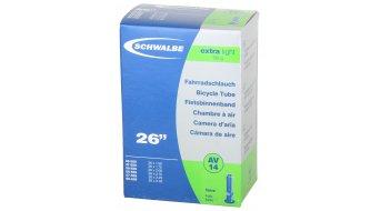 """Schwalbe Schlauch Nr. 14 Extralight für 26"""" AV14 (26x1.50-2.35"""") Autoventil 40mm"""