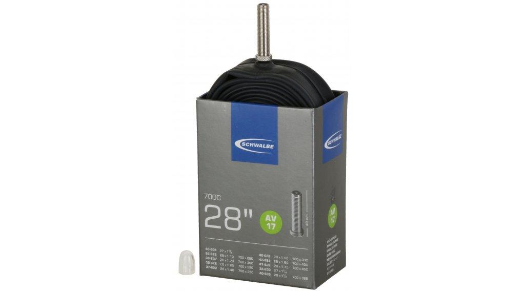 Schwalbe 内胎 Nr. 17 适用于 28 AV17 标准 (700/28-45C) 汽车气门芯(美嘴) 40mm, 150克