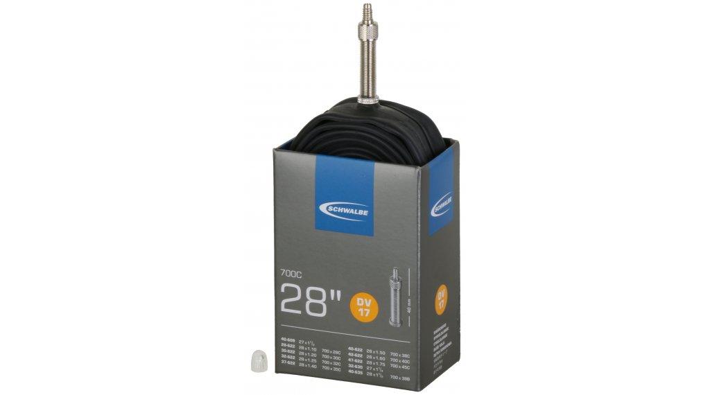 Schwalbe 内胎 Nr. 17 适用于 28 DV17 标准 (700/28-45C) Dunlop气门芯(德嘴) 40mm, 150克