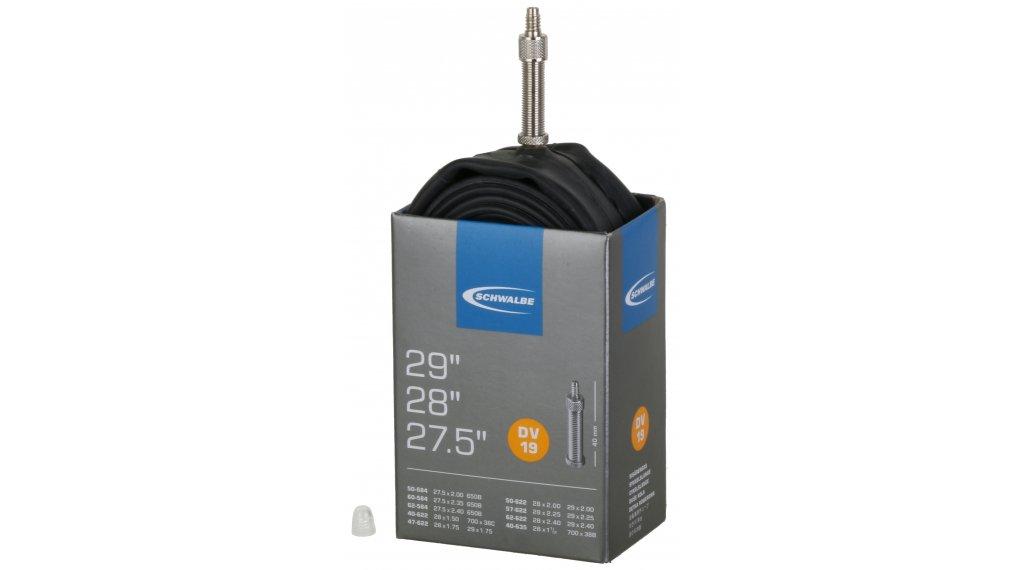 "Schwalbe 内胎 Nr. 19 适用于 27.5/28/29"" DV19 标准 (27.5x2.00-29x2.40"") Dunlop气门芯(德嘴) 40mm, 220克"