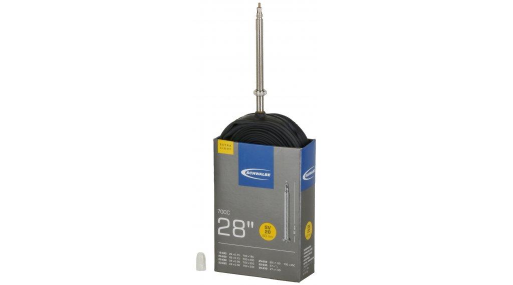 Schwalbe 内胎 Nr. 20 适用于 28 SV20 ExtraLight (700/18-25C) 法式气嘴 80mm 超长, 65克