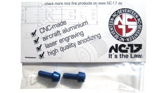 NC-17 tornillos de portabidones M5x12 (2 uds.) azul