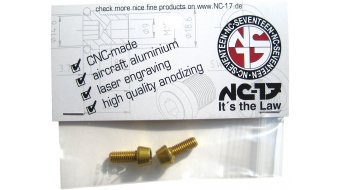 NC-17 tornillos de portabidones M5x12 (2 uds.) dorado(-a)